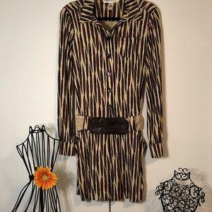Diane Von Furstenberg Silk Sheena Feather Dress 6